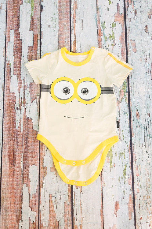 Minions Face Short Sleeve Babysuit