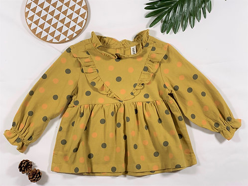 Country style mustard dress