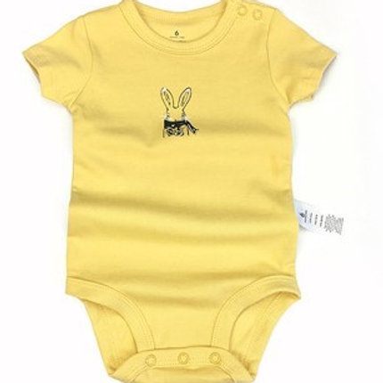 Cute yellow bunny bodysuit