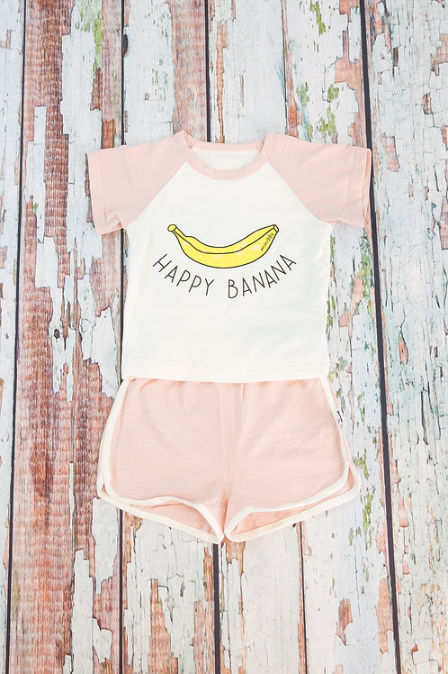 Happy Banana Short Sleeve Outfit