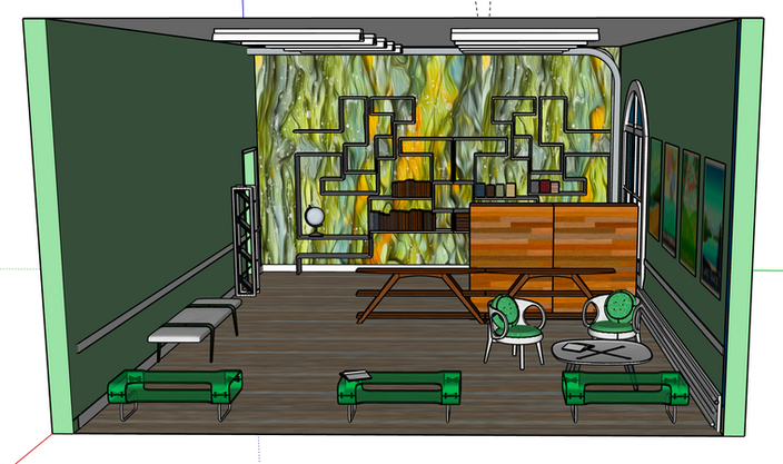 Travel Agency Office Design, Left View