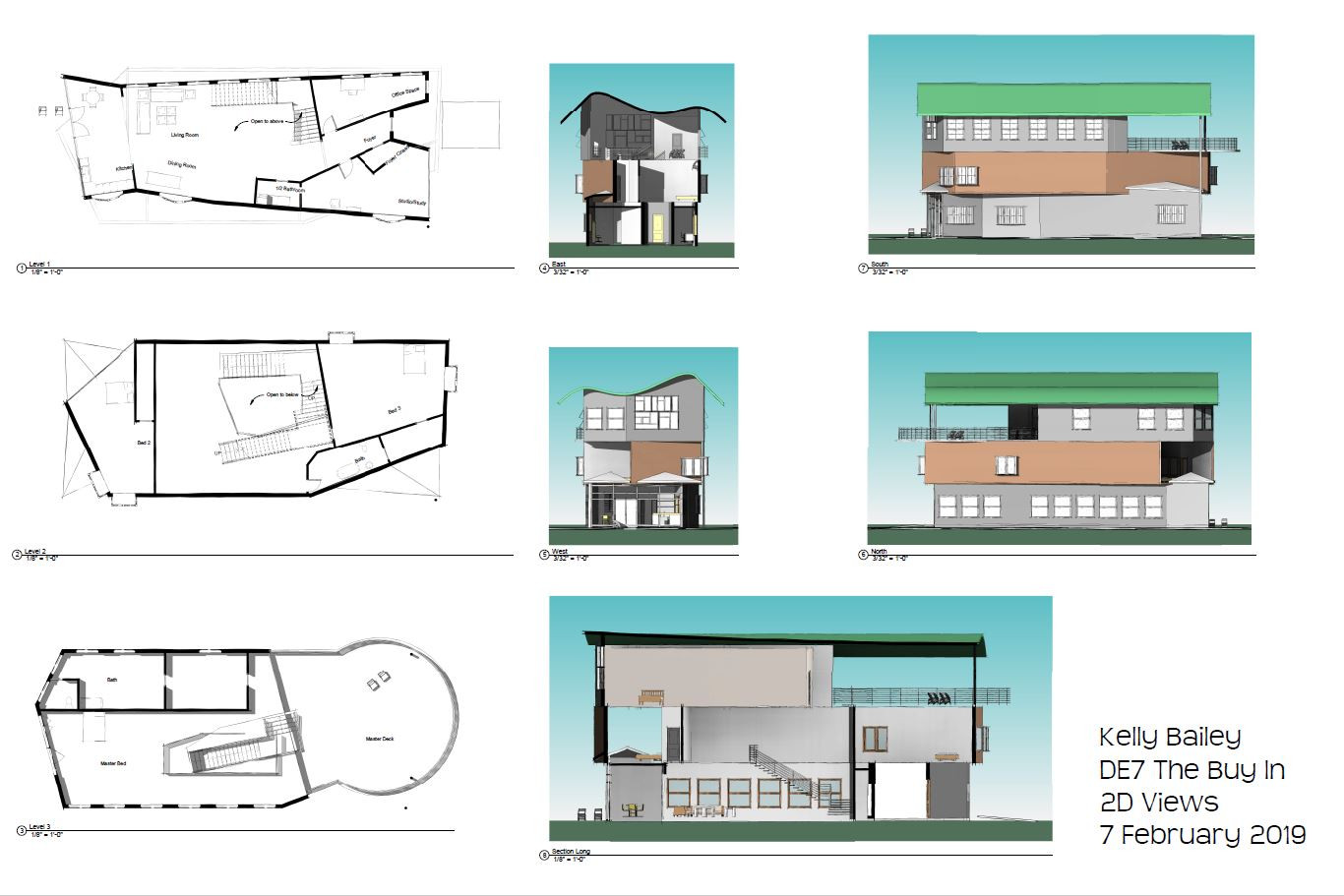 Floor Plans and Elevation Views