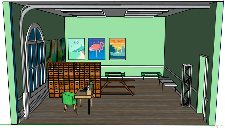 Travel Agency Office Design, Right View