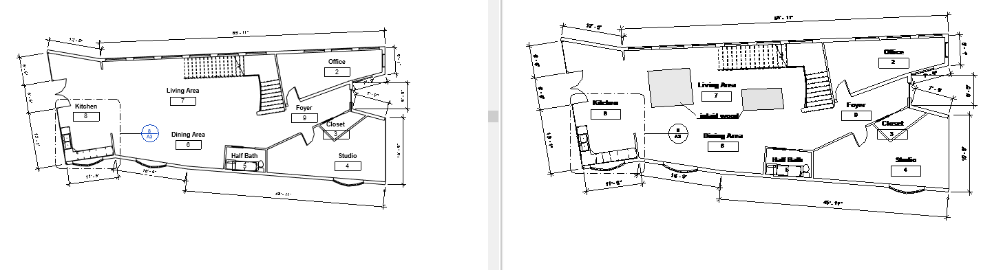 Design Exercise 10 CAD to Revit, Inlaid Flooring