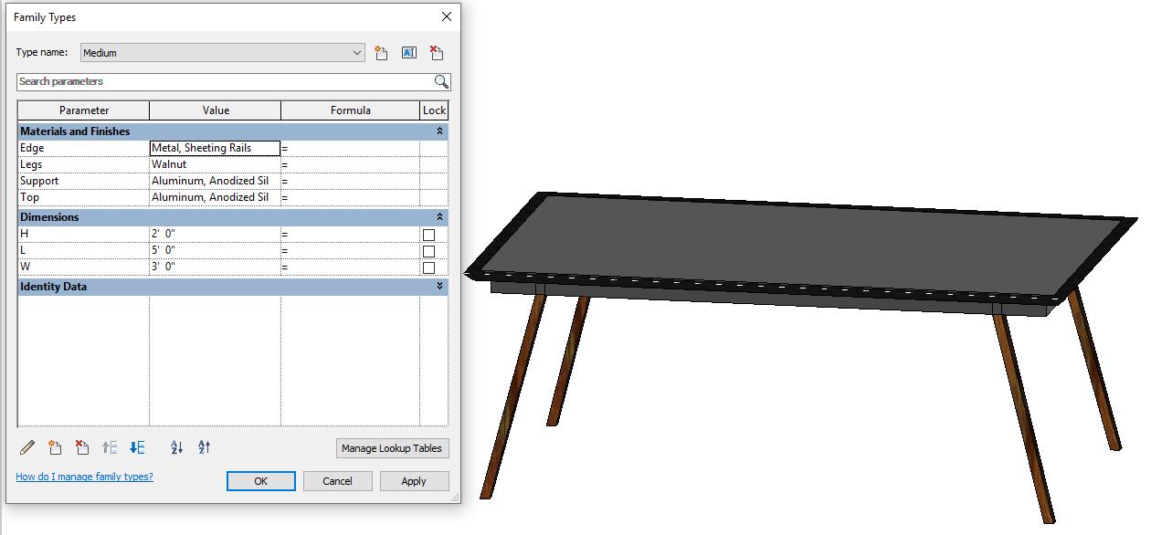 Design Exercise 12, Medium Table