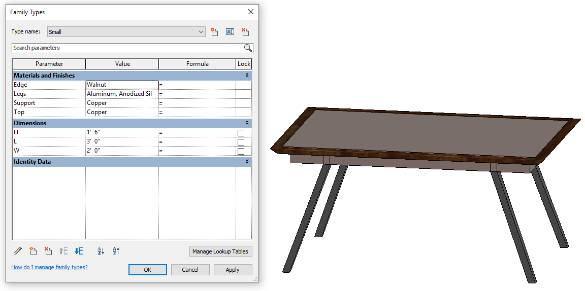 Design Exercise 12, Small Table