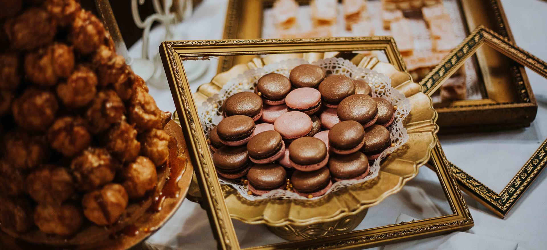 Minifánk torta- Croquembush torta makaronnal