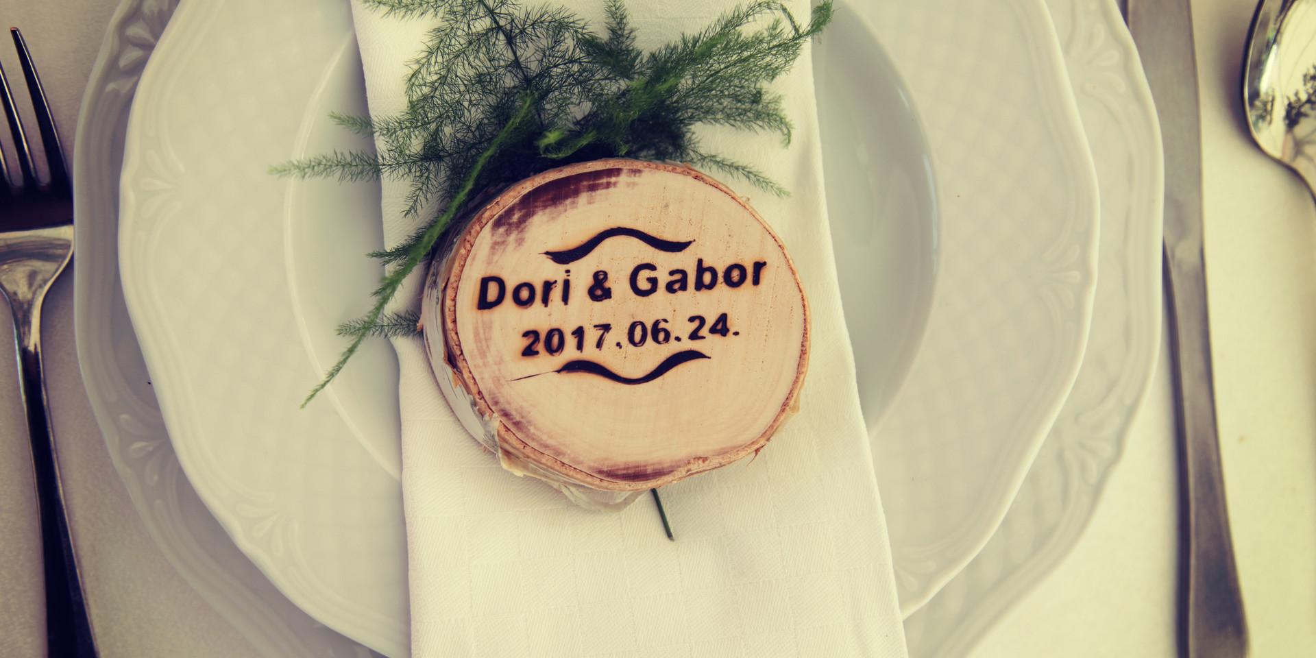 Szalvéta esküvő