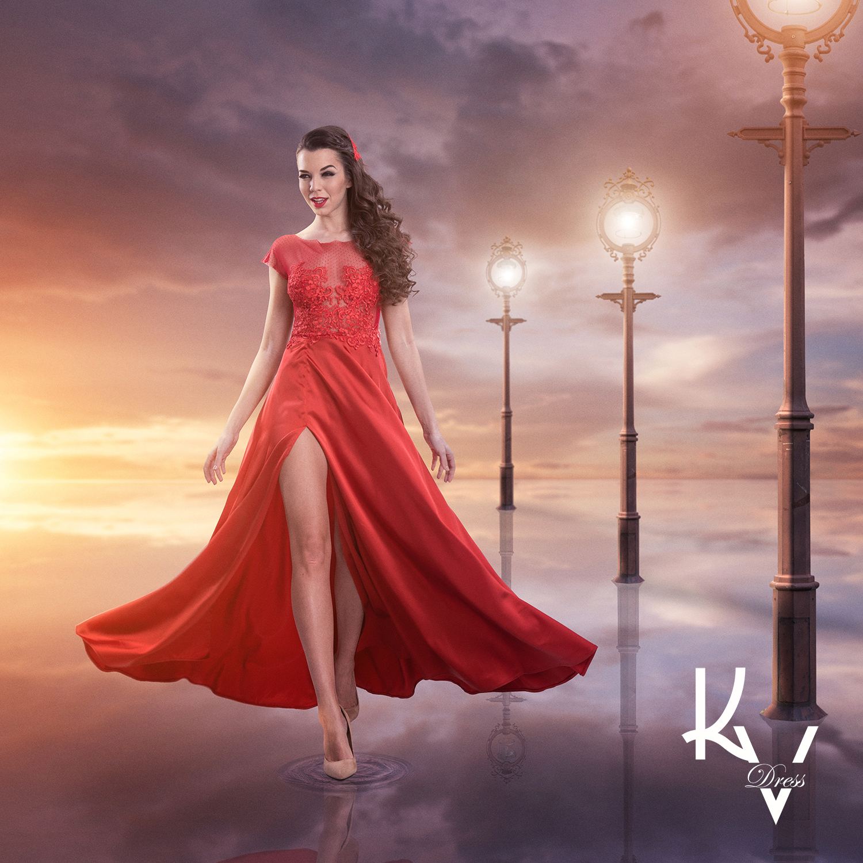 Meggy piros sliccelt ruha