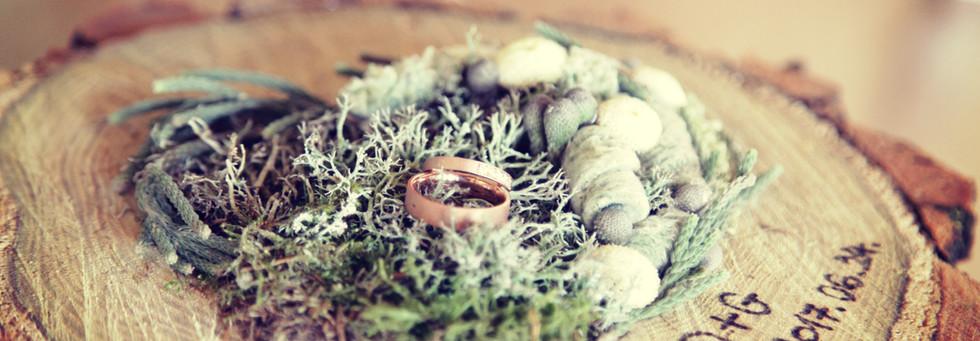 Fa korongból gyűrűpárna