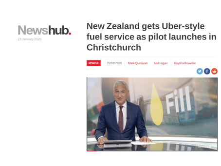 New Zealand gets Uber-style fuel service as pilot launches in Christchurch
