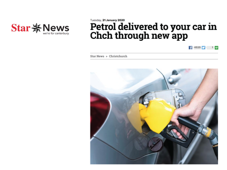 Petrol delivered to your car in Chch through new app
