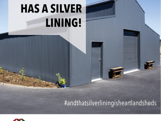 Every cloud has a silver lining....#andthatsilverliningisheartlandsheds