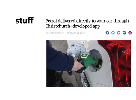 Petrol delivered directly to your car through Christchurch-developed app