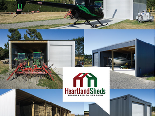 Helicopters, Heavy Machinery and Heartland Sheds = a winning combination!