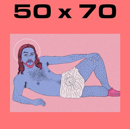 "SALE: ""Sexy Christ VI"" 50 x 70"