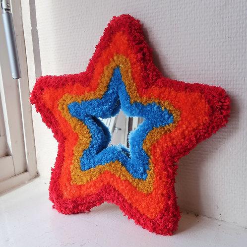 Red Rainbow Lucky Star MINI MIRROR