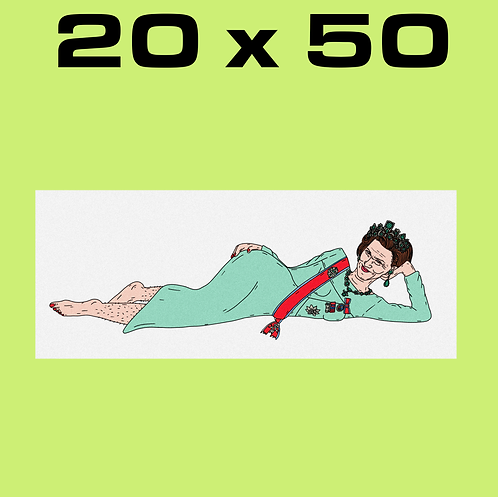"SALE: ""Olala Sonja WHITE"" 20 x 50"