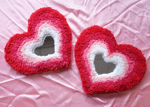 Red & Pink Happy Heart MINI MIRROR