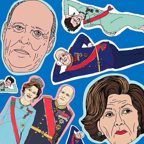 Kongeparet MIXED (7-pack stickers)