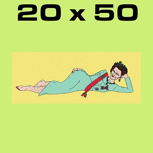"""SALE: """"Olala Sonja CORN YELLOW"""" 20 x 50"""