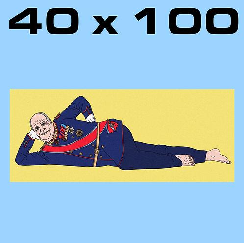 """SALE: """"Olala Harald CORN YELLOW"""" 40 x 100"""