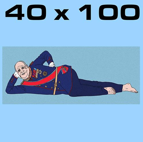 """SALE: """"Olala Harald SKY BLUE"""" 40 x 100"""
