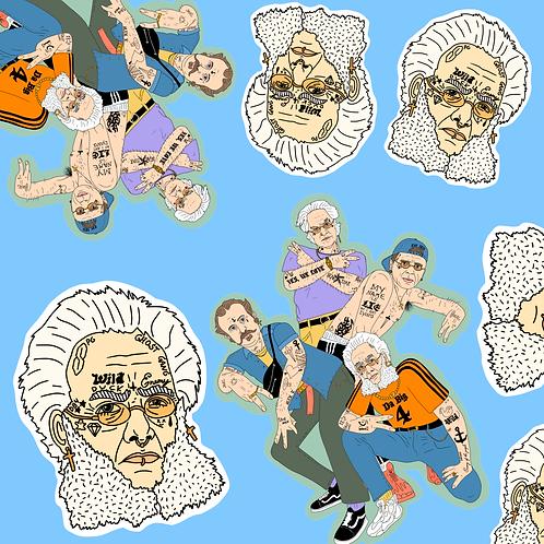 Da-Big-4 + $lim Ibsen (7-pack stickers)