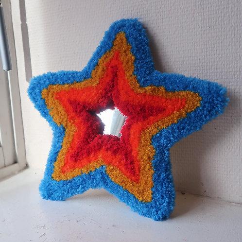 Blue Rainbow Lucky Star MINI MIRROR