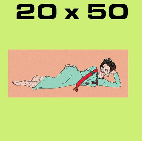 """SALE: """"Olala Sonja PEACH"""" 20 x 50"""