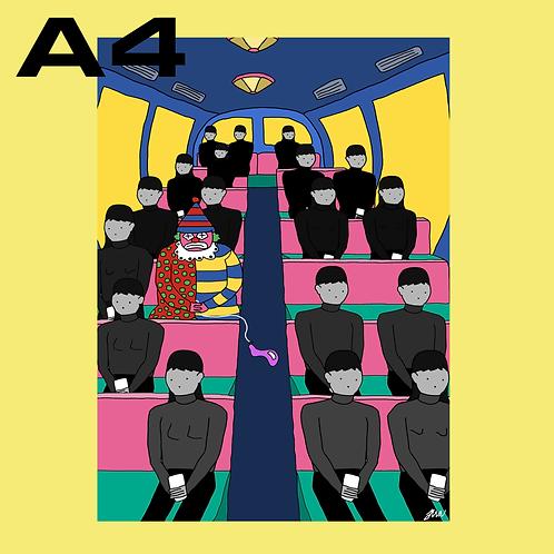 """SALE: """"Hjulene På Bussen I"""" A4"""