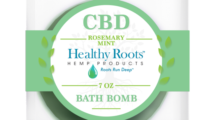 Stay Rooted Peppermint And Rosemary CBD Bath Bombs 50mg