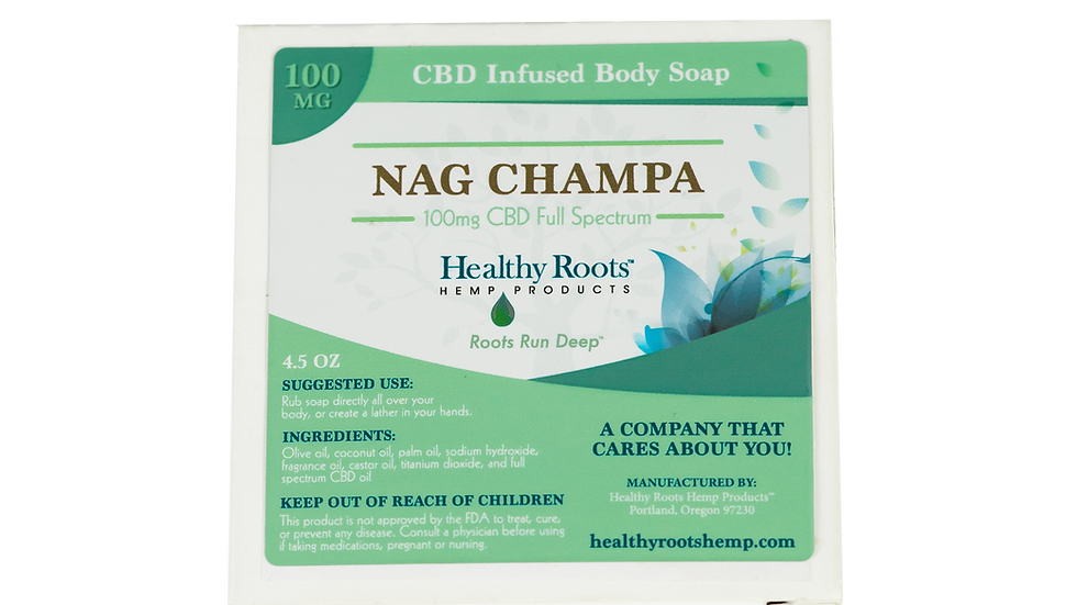 Heavenly Hemp Nag Champa CBD Bar Soap 100mg