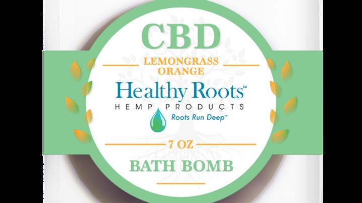 Stay Rooted CBD Bath Bombs Lemongrass And Orange 50mg