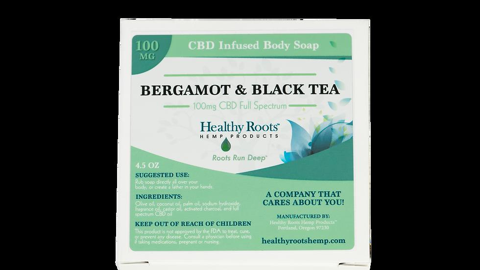 Heavenly Hemp Bergamot and Black Tea CBD Soap 100mg