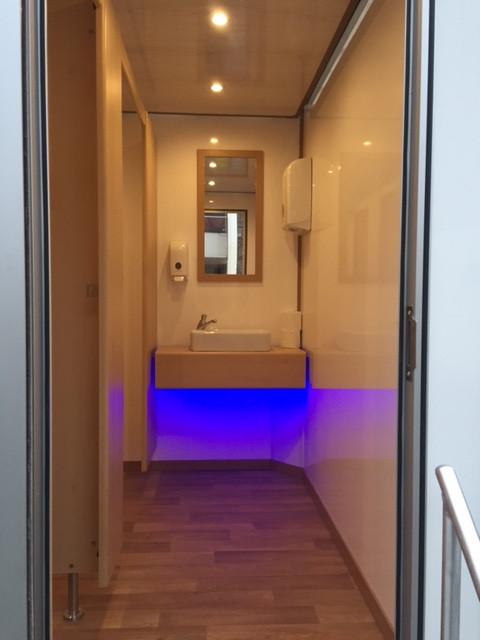 Interior of Luxury Toilet Trailer