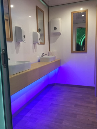 Interior of Luxury Toilet Trailer for hire