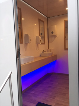 Interior of Toilet Trailer