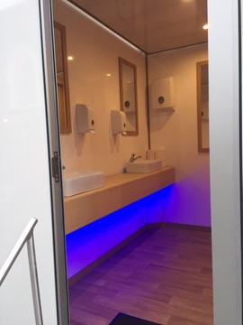 Interior of Toilet Trailer