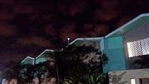Jardim da igreja a noite