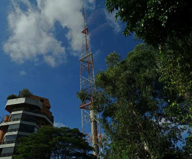 Torre entre árvores