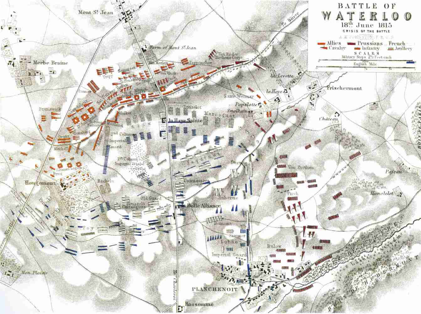 Map-of-Waterloo-Battlefield