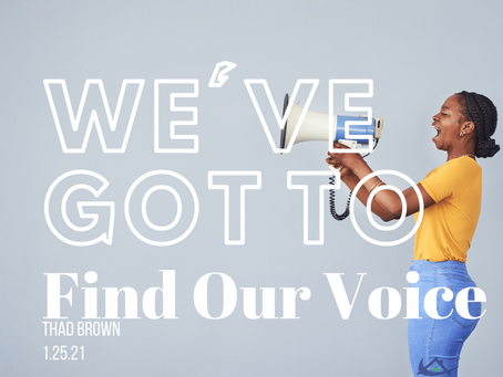We've Got to Find Our Voice
