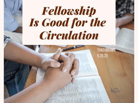 Fellowship Is Good for the Circulation