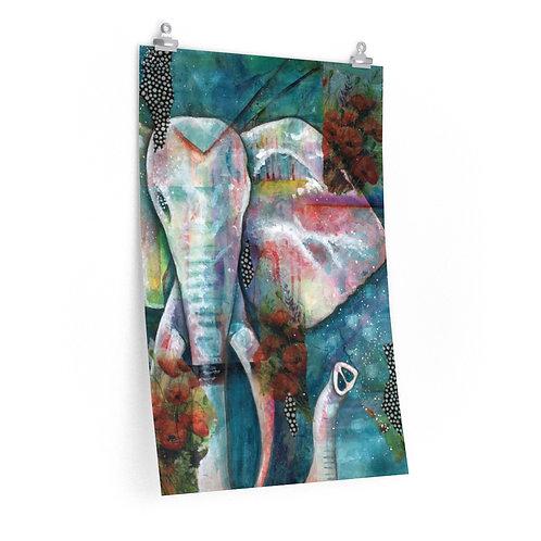 Elefante Premium Matte Vertical Print