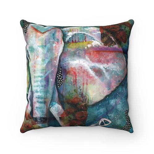 Elefante Faux Suede Square Pillow Case