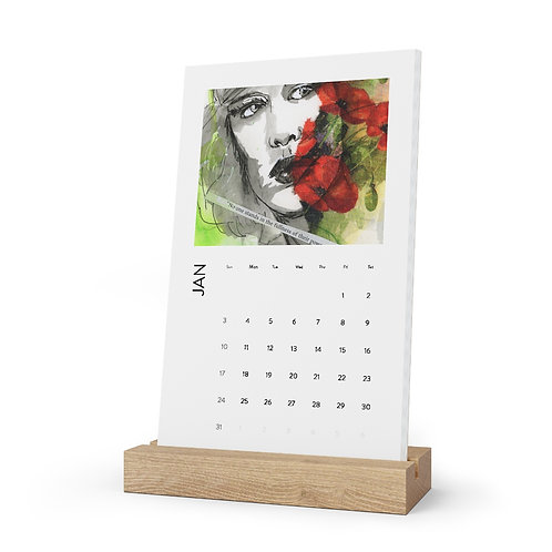 Faces Desk Calendar