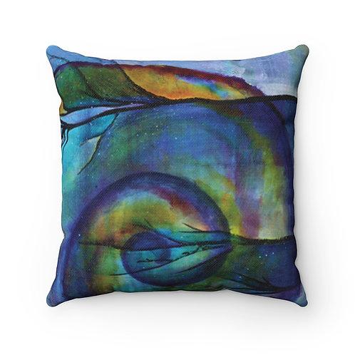 Poseidon's Muse Nautilus Pillow - Spun Polyester