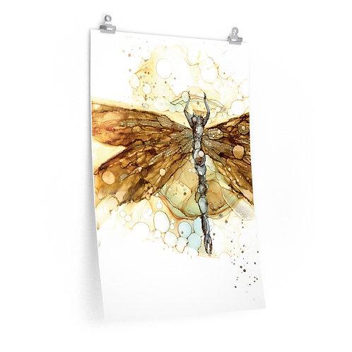 Fall Dragonfly Premium Matte Print