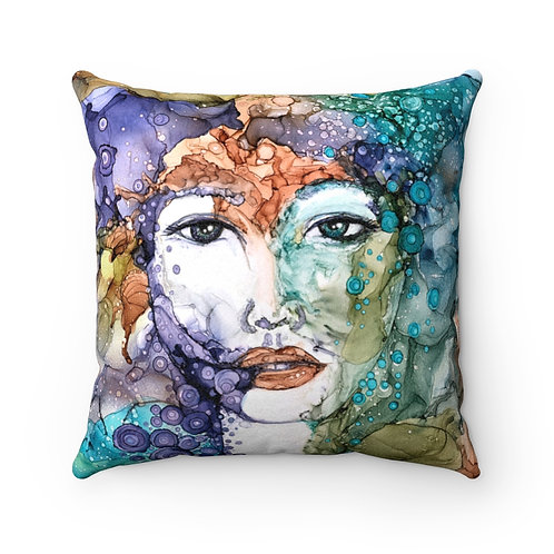 Antheia Faux Suede Square Pillow Case
